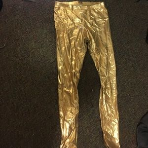 American apparel gold leggings